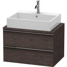 Vanity Unit For Console Compact, Brushed Dark Oak (real Wood Veneer)