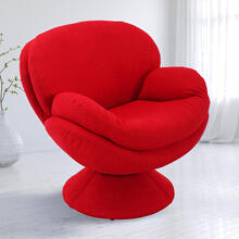 Pub Leisure Accent Chair in Red Fabric