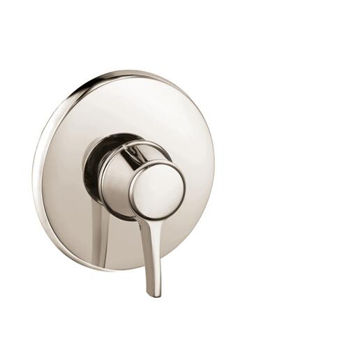 Polished Nickel Pressure Balance Trim, Round