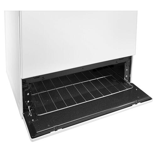 30-inch Gas Range with EasyAccess Broiler Door White