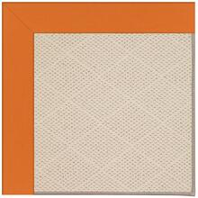 Creative Concepts-White Wicker Canvas Tangerine Machine Tufted Rugs