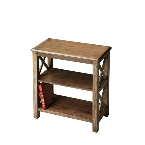 Crafted from poplar hardwood, maple veneers and wood products in the Dusty Trail finish, this bookcase is designed to enhance any d cor with style and function.