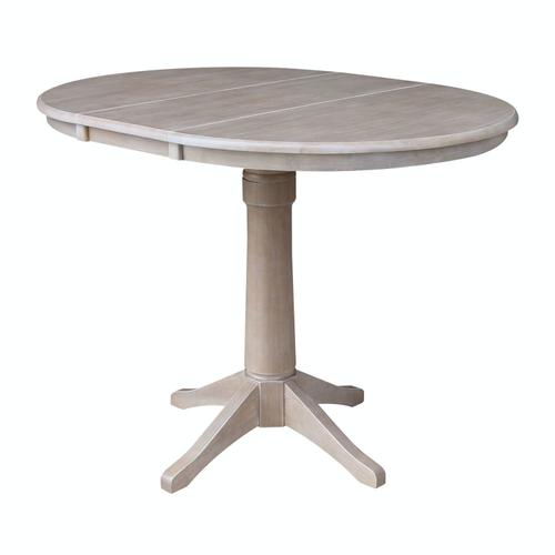 Product Image - Round Extension Table in Taupe Gray