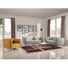 See Details - Divani Casa Medora Modern Grey & Yellow Fabric Sofa Set