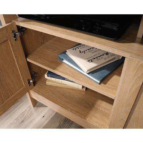 2-Door TV Stand with Divided Shelving