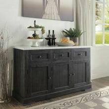 ACME Nolan Server - 72847 - White Marble & Salvage Dark Oak