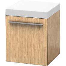 Mobile Storage Unit, Brushed Oak (real Wood Veneer)