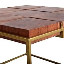 View Product - Bunching Table- 1/CTN - Natural/Iron Gold Finish