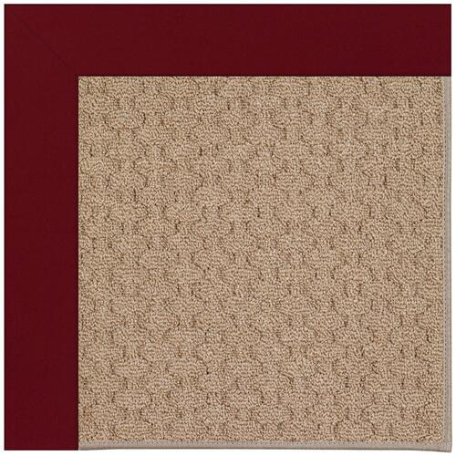 Creative Concepts-Grassy Mtn. Canvas Burgundy Machine Tufted Rugs