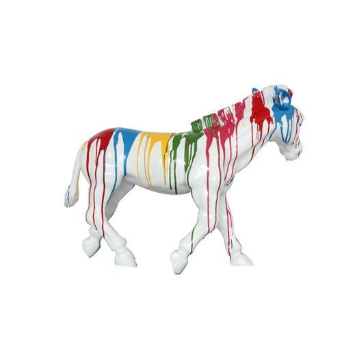 Gallery - Modrest Rainbow Zebra Modern Sculpture