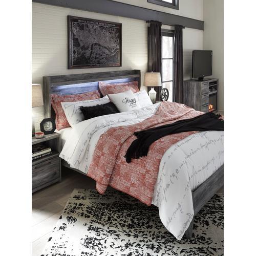 Baystorm - Gray 2 Piece Bed (King)