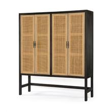 Natural Cane Finish Caprice Cabinet