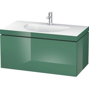Furniture Washbasin C-bonded With Vanity Wall-mounted, Jade High Gloss (lacquer)