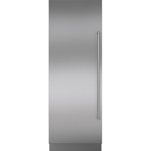 "Sub-Zero - Stainless Steel Door Panel with Pro Handle and 6"" Toe Kick - LH"