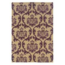 Damask Cream/purple 1ft10 X2