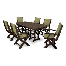 Mahogany & Kiwi Coastal 7-Piece Dining Set