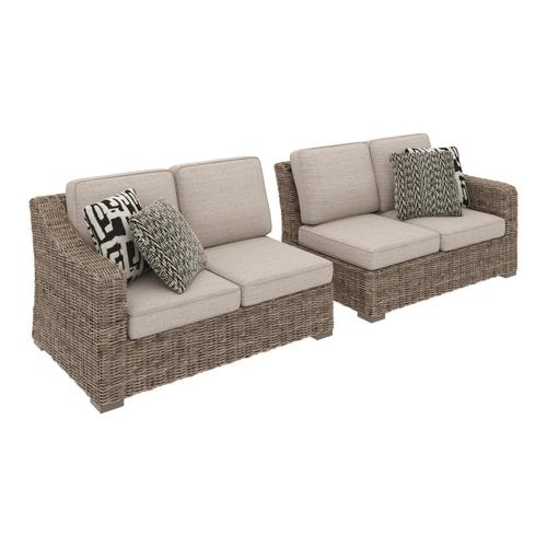 Clearance Priced Outdoor Sectional - RAF/LAF Loveseat w/CUSH (2/CN)