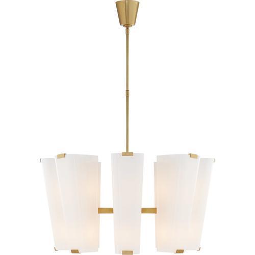 AERIN Alpine 16 Light 30 inch Hand-Rubbed Antique Brass Chandelier Ceiling Light, Medium