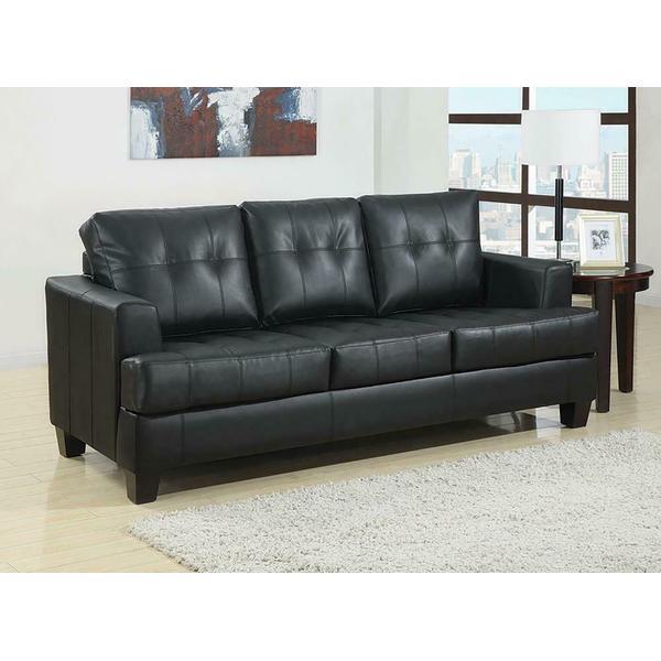 See Details - Samuel Transitional Black Sleeper Sofa