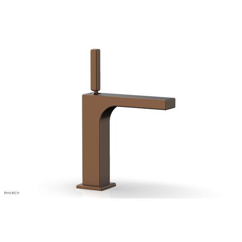 MIX Single Hole Lavatory Faucet, Blade Handle 290-06 - Antique Copper