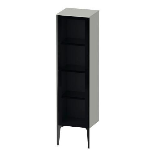 Semi-tall Cabinet With Mirror Door Floorstanding, Concrete Gray Matte (decor)