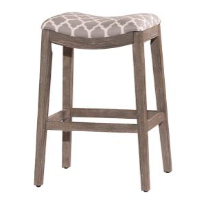 Sorella Non Swivel Backless Bar Stool - Gray