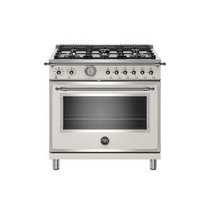 Bertazzoni36 inch All Gas Range, 6 Brass Burners Avorio
