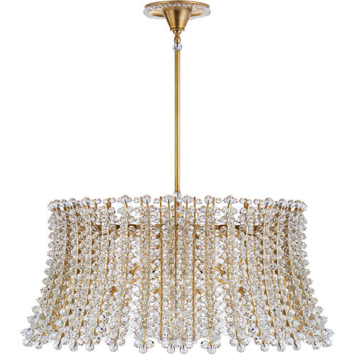 AERIN Serafina 8 Light 35 inch Hand-Rubbed Antique Brass Drum Chandelier Ceiling Light, Large