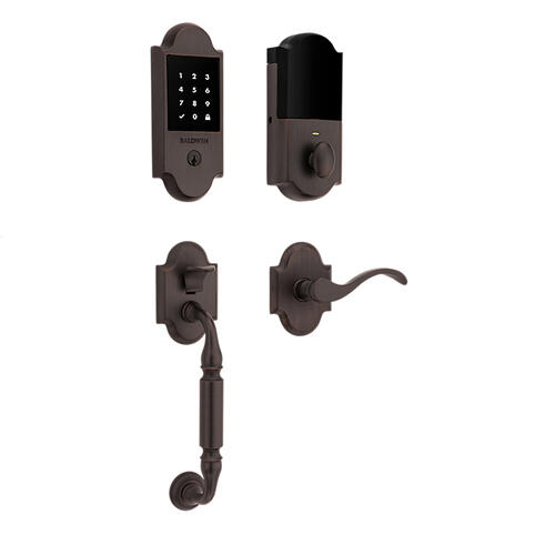 Venetian Bronze Canterbury Touchscreen Keyless Entry Handleset