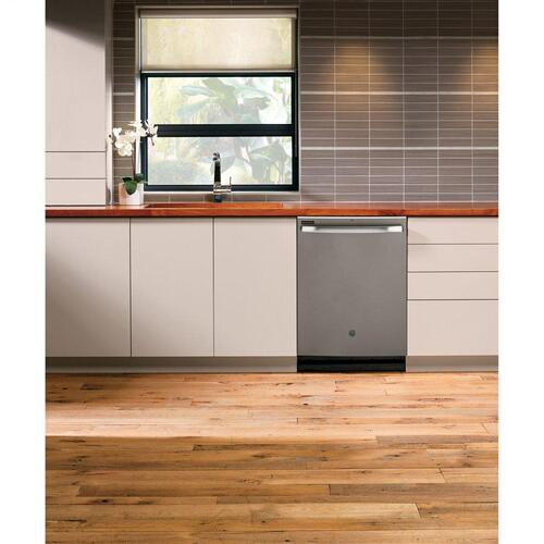 GE® Top Control with Stainless Steel Interior Door Dishwasher with Sanitize Cycle & Dry Boost
