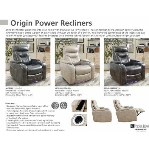 Gallery - ORIGIN POWER - LINEN Power Home Theater Recliner