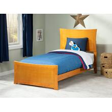Metro Twin XL Bed with Matching Foot Board in Caramel Latte