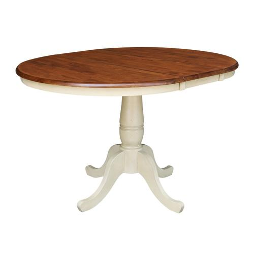 Round Extension Table in espresso/Almond