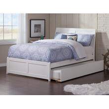 Portland Full Bed with Matching Foot Board with Urban Trundle Bed in White