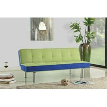 ACME Hailey Adjustable Sofa - 57135 - Green & Blue Flannel