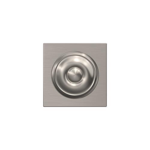 Custom Georgian Non-Turning Knob with Collins Trim - Satin Nickel
