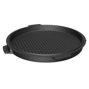 """Big Green Egg - Dual-sided Cast Iron Plancha Griddle 14"""""""