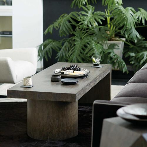 Linea Rectangular Cocktail Table in Cerused Charcoal (384)
