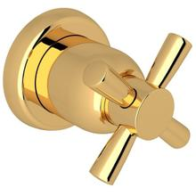 English Gold Perrin & Rowe Holborn Trim For Volume Control And 4-Port Dedicated Diverter with Holborn Cross Handle