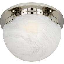 View Product - AERIN Serein LED 6 inch Polished Nickel Solitaire Flush Mount Ceiling Light