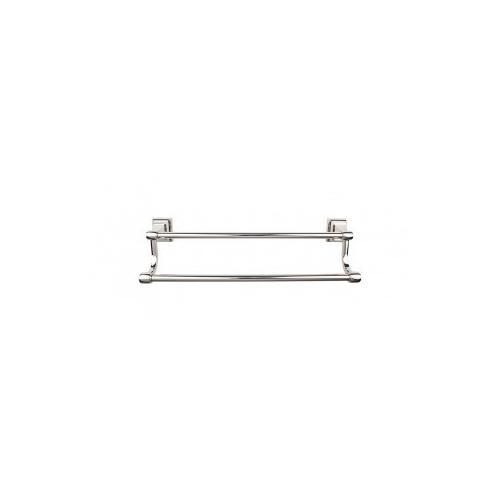 Top Knobs - Stratton Bath Towel Bar 24 Inch Double - Polished Nickel