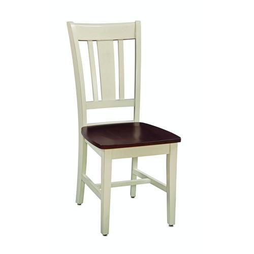 John Thomas Furniture - San Remo Chair in Almond & Espresso