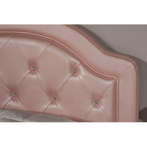 Karley Full-size Headboard, Pink Faux Leather