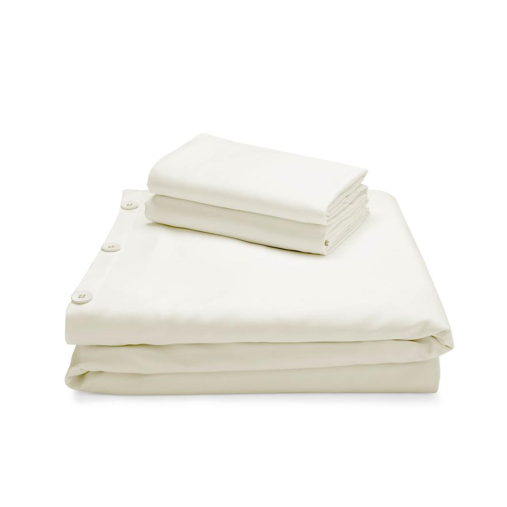 Rayon From Bamboo Duvet Set Queen Ivory
