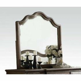 ACME Baudouin Mirror - 26114 - Weathered Oak