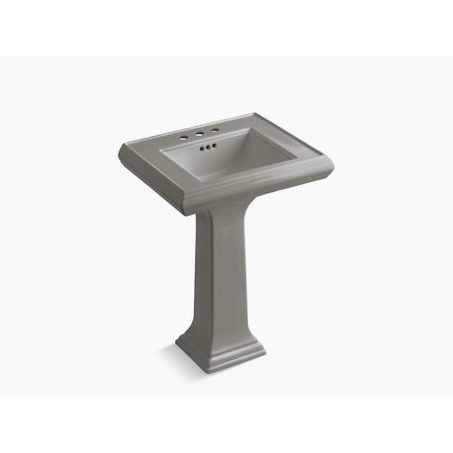 "Cashmere Classic 24"" Pedestal Bathroom Sink With 4"" Centerset Faucet Holes"