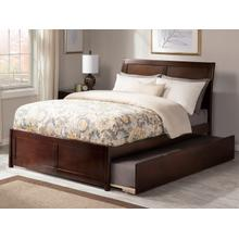 Portland Full Bed with Matching Foot Board with Urban Trundle Bed in Walnut