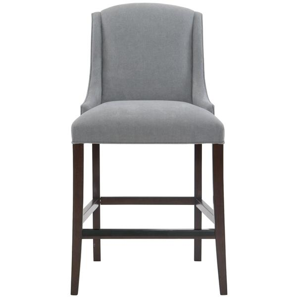 See Details - Slope Bar Stool in Cocoa Finishes Available Cocoa (CN1) Portobello (PN1) Smoke (SN1) Description Upholstered seat with welt Upholstered inback and outback Stretchers Metal cap on front stretcher Options Optional nailhead trim available. Available in other fabrics or COM. To order in the available non-wire brushed finishes, specify the 3-digit finish number. Also available in wire brushed finishes - Glacier White, Midnight Black and Weathered Greige. See 319-586W . Also available in leather. Order as 319-86NL . Specifications subject to change without notice. Due to differences in screen resolutions, the fabrics and finishes displayed may vary from the actual fabric and finish colors. ALL RELATED PRODUCTS