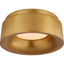 View Product - Barbara Barry Halo LED 6 inch Gild Flush Mount Ceiling Light, Petite