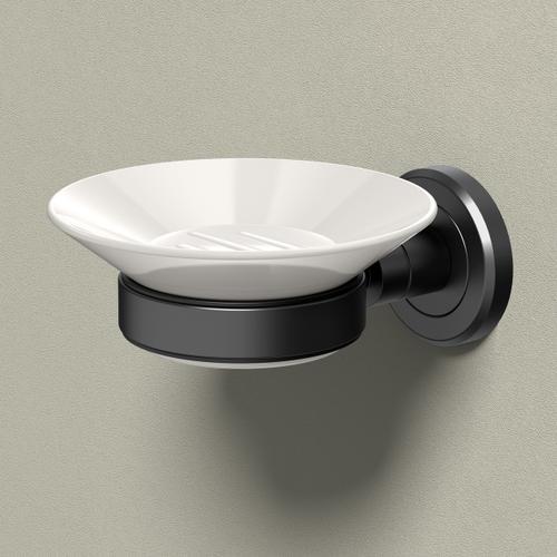 Latitude2 Soap Dish Holder in Matte Black